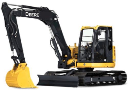 John Deere Excavtor Windshield