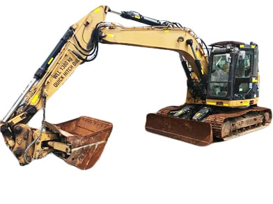 CAT Excavator Glass