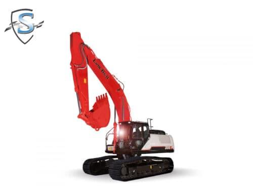 link-Belt excavator windshield